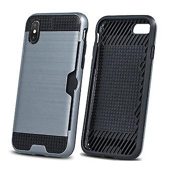 iPhone XS Max - Defender Kort Skall - Sølv