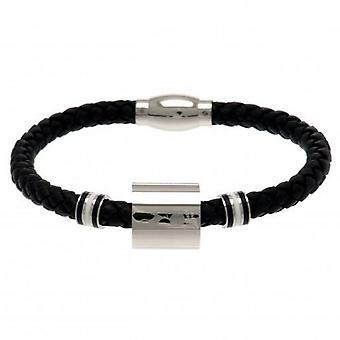 Tottenham Hotspur FC Ring Leather Bracelet