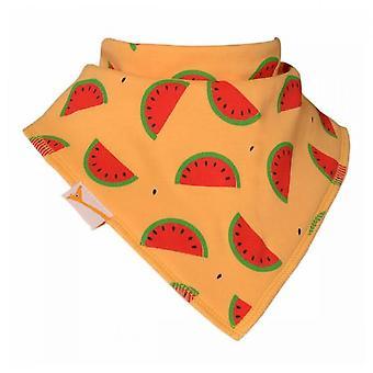 Yellow watermelon bandana bib