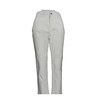 Denim & Co. Damen's Petite Jeans Classic Distressed Skinny White A304477 #1