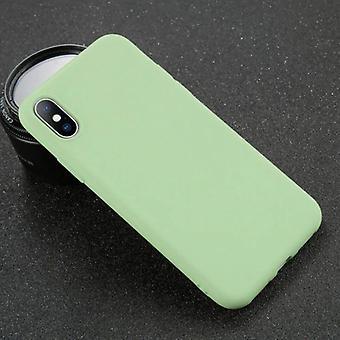 USLION iPhone SE (2020) Ultraslim Silicone Case TPU Case Cover Light Green