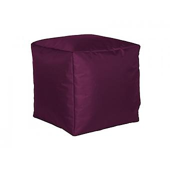Seat cube nylon Aubergine large 40 x 40 x 40 with filling