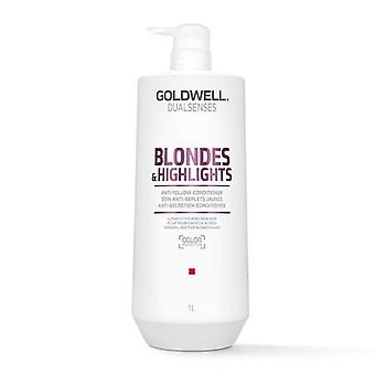 Goldwell dualsenses Blondes & hoogtepunten anti-gele conditioner 1000ml