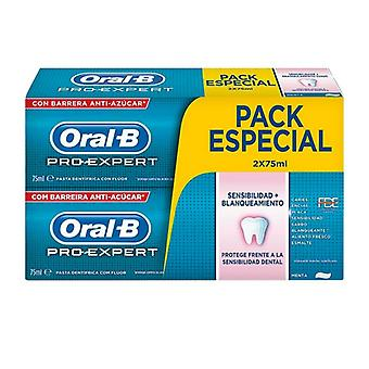 Toothpaste Sensivity and Whitening Pro-expert Oral-B (2 uds)