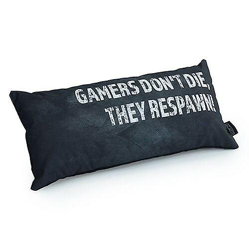 Game Over Gamers Don't Die, They Respawn! Slogan - Grey | Gaming Cushion | Foam Crumb Filled | Water Resistant | Bedding and Sofa | Home Decor
