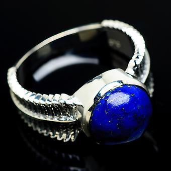Lapis Lazuli Ring Size 8.25 (925 Sterling Silver)  - Handmade Boho Vintage Jewelry RING7675