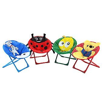 4pcs Kid Moon Chairs Set Folding Indoor Outdoor Padded Seat Saucer Chair UK