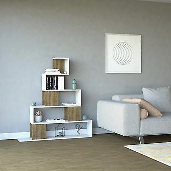 Pyramid Color White Library, Melaminic Chip Nut, PVC 120x22x130,8 cm
