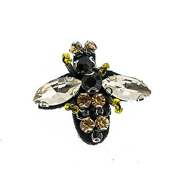 Pretty Jewelled Bumble Bee Brooch - Cracker Filler Gift