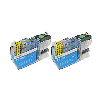 RudyTwos 2x Replacement for Brother LC3213C Ink Unit Cyan Compatible with DCP-J772DW, DCP-J774DW, MFC-J890DW, MFC-J895DW