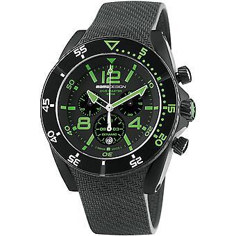 MOMO Design Dive Master Watch MD1281BK-31 - Rubber Gents Quartz Chronograph