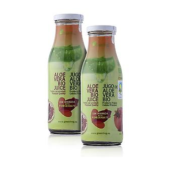 Pack x2 Organic Aloe Vera Juice with Pomegranate 2 units