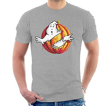 Ghostbusters Pumpkin No Ghost Logo Men's T-Shirt