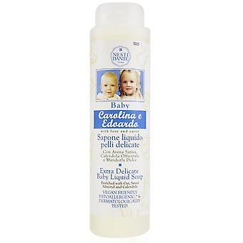 Carolina & Edoardo Extra Delicate Baby Liquid Soap With Oat Sweet Almond & Calendula (shower Gel) - 300ml/10.2oz