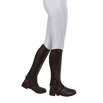 Saxon Syntovia Childrens Half Chaps - Brown