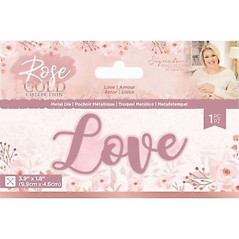Crafter's Companion Rose Gold Love Die
