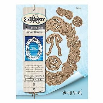 Pannello floreale dimensionale della serie Spellbinders Designer