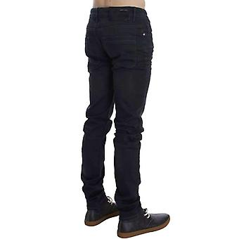 Gray Cotton Stretch Slim Fit Jeans -- SIG3851525