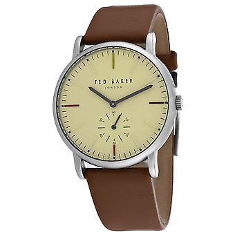 155, Ted Baker Men 's TE50072002 Reloj marrón cuarzo