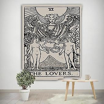 Tarot Sun And Moon Wall Hanging Tapestry Blanket - Home Bedroom Decorating