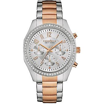 Caravelle Watch 45L148 - Plated Stainless Steel Ladies Quartz Chronograph