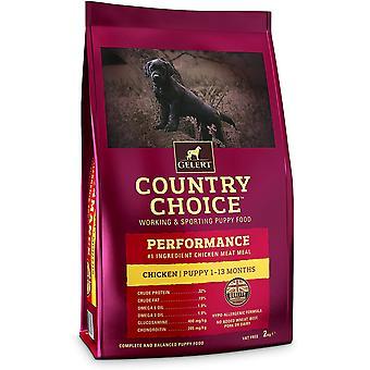 Gelert Country Choice Performanță pui și orez - 12kg