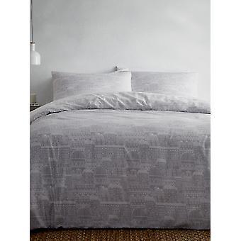 Portfólio Old Town Grey Double Duvet Cover Set
