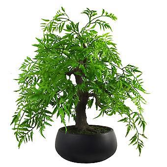 50cm Artificial lujo Ficus Bonsai Tree