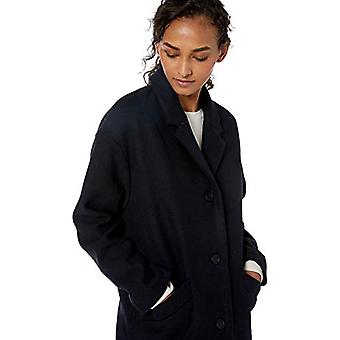 Brand - Daily Ritual Women's Oversized Wool Blend Cocoon Coat, Navy He...