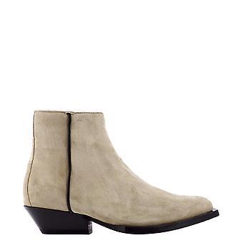 Jimmy Choo Junfsuestuccoblack Kvinder's Beige Ruskind Ankel Støvler