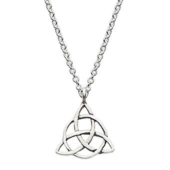 Heritage Sterling Silver Celtic Triangle Knot Necklace 92032HP026
