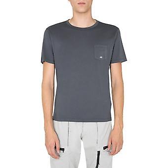 C.p. Företag 09cmts012a000444o968 Män's Grey Cotton T-shirt