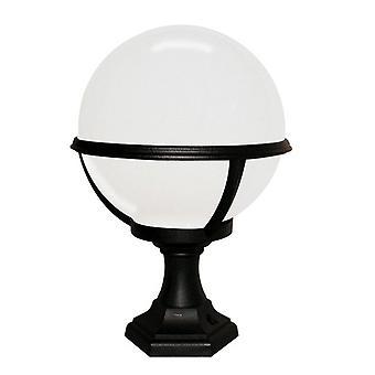 1 Light Outdoor Pedestal Lantern Black IP44, E27