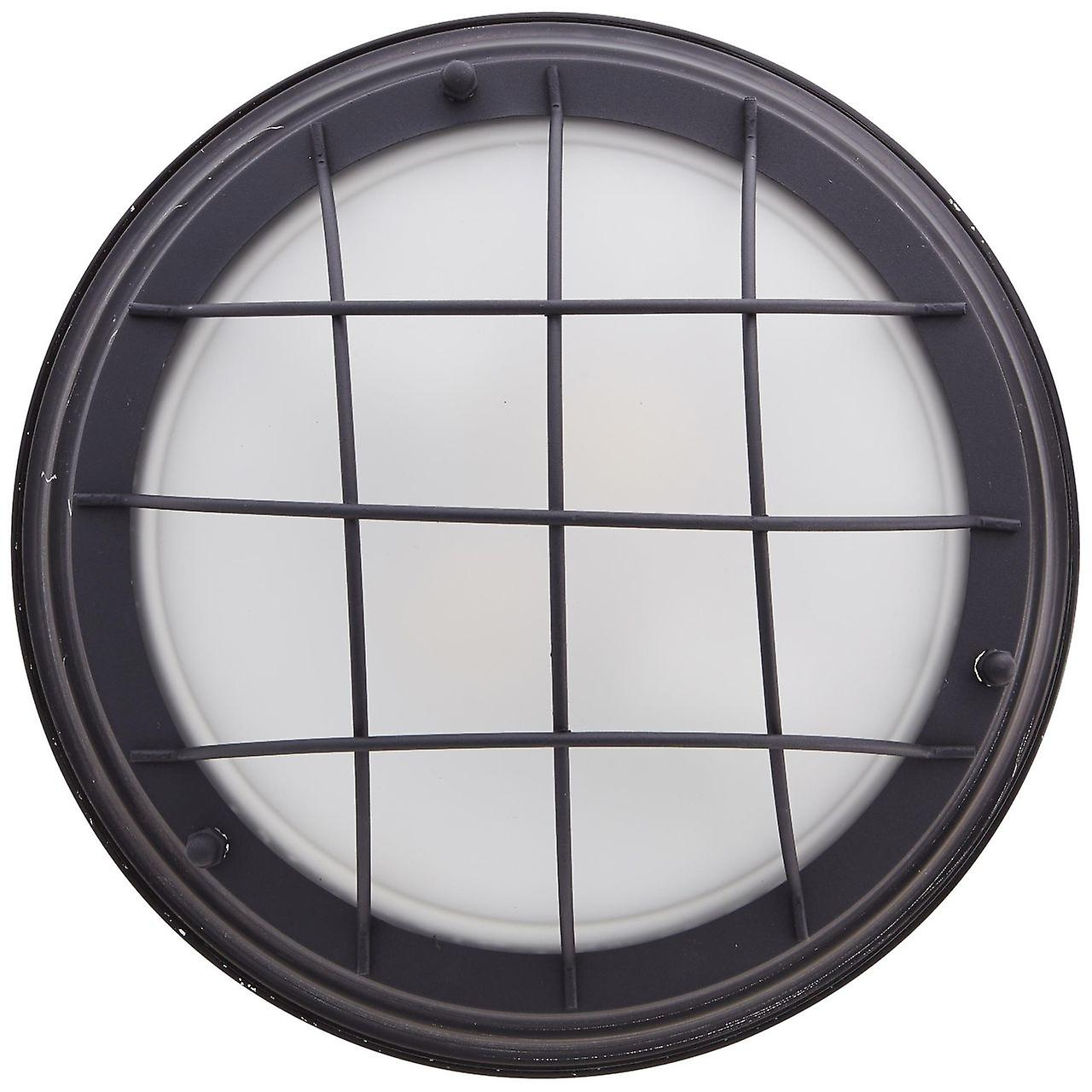 BRILLIANT Lampe Typhoon Wand- und Deckenleuchte 34cm schwarz antik   2x A60, E27, 25W, geeignet für Normallampen (nicht enthalten)   Skala A++ bis E   Für LED-Leuchtmittel geeignet
