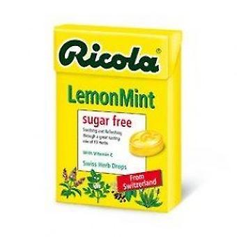 RICOLA - suíços ervas doces - limão - açúcar livre com Aspartame 45g
