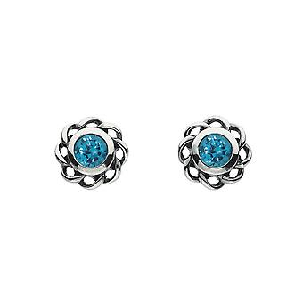 Heritage Mystic Birthstones December Twist Pendientes 3234DEC024