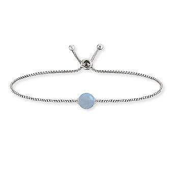 Angel Whisperer Healing Stone Aquamarine Sterling Silver Rhodium Plated Toggle Bracelet ERB-LILGEM-AQ