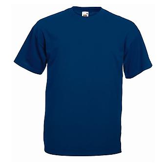 Frukt av vävstolen 100% Plain Cotton Casual Mens Womens T-shirt