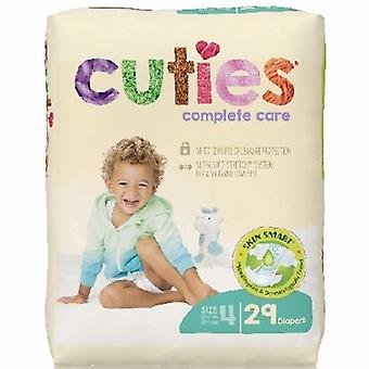 First Quality Unisex Baby Diaper Cuties Complete Care Tab Closure Size 4 Disposable Heavy Absorbency, Case of 116