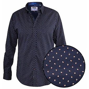 DUKE Duke Fashion Print Long Sleeve Shirt