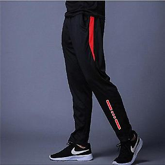 Men Pants Sport High Elasticity Casual Trousers- Polyester Fitness Running