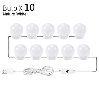 5v Led Makeup Mirror Light Bulb -hollywood Makeup Vanity Lights Usb Wall Lamp