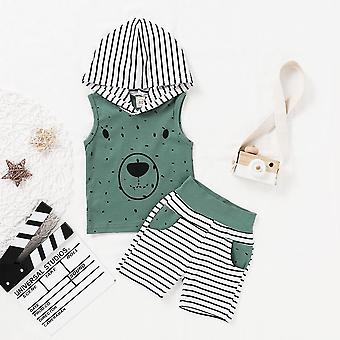 Newborn Baby Clothes, Cartoon Bear Sweatshirt, Tops+ Pants Outfits