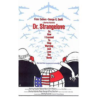 Dr. Strangelove eller hvordan jeg lærte å stoppe bekymringsfull og elsker bomben filmen plakaten (11 x 17)