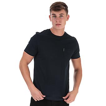 Men's Ben Sherman Plain Pocket T-Shirt in blau