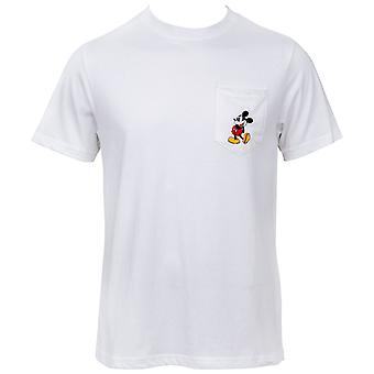 Mickey Mouse Disney Pocket White T-Shirt