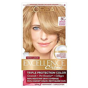 L'OREAL paris excellence crème cheveux couleur, golden blonde 8g, 1 kit
