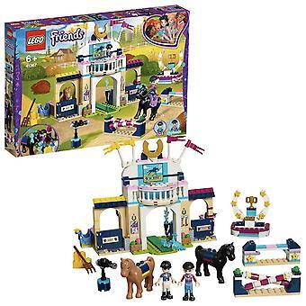 Lego 41367 ystävät stephanie's hevoshyppy leikkisetti, mininukkeja ja asusteita, lelu hevosen talli s