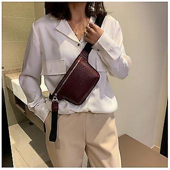 Bag krokodille flerfarget messenger bryst bag / clutch kvinnelig pu skinn