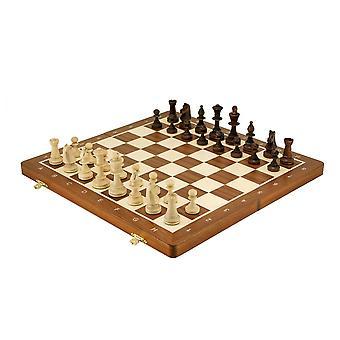 Large Folding Staunton Style Tournament Chess Set